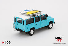 Load image into Gallery viewer, (Pre Order) MiniGT 1/64 Land Rover Defender 110 With Rack & Surfboard