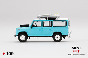 (Pre Order) MiniGT 1/64 Land Rover Defender 110 With Rack & Surfboard