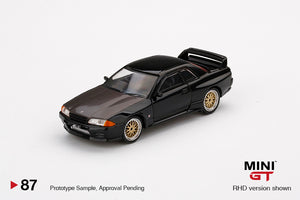 Mini GT 1:64 Mijo Exclusive USA Nissan GT-R R32 Black With BBS Wheels Limited 1,200
