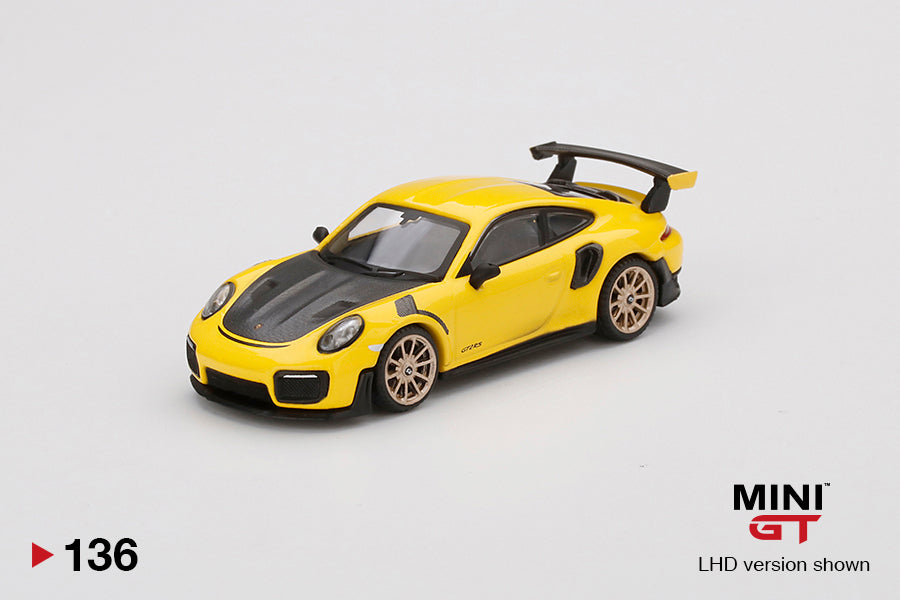 (Pre Order) MiniGT 1/64 Porsche 991 Turbo GT2RS GT LHD Yellow