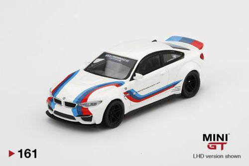 (Pre Order) MiniGT 1/64 BMW M4 Liberty Walk White w/ M Stripe Limited 1,800 PCS