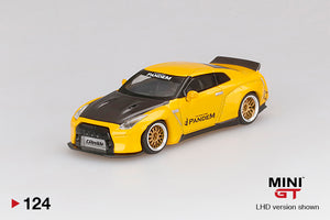 MiniGT 1:64 Nissan GT-R R35 PANDEM Yellow Limited 1,800 PCS
