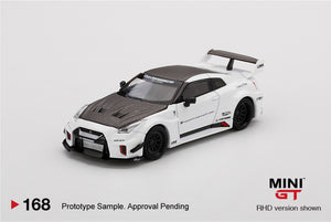 MiniGT 1:64 LB Silhouette Works GT Nissan 35 GT-R Version 1 White Limited New Tooling