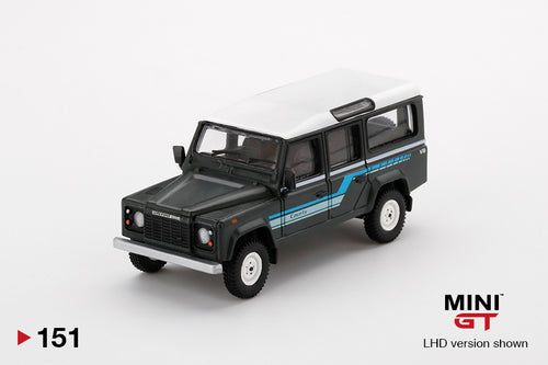 (Pre Order) MiniGT 1/64 Land Rover Defender 110 1985 County Station Wagon Grey Limited Edition