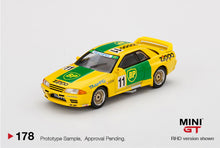 Load image into Gallery viewer, (Pre Order) Mini GT 1:64 Mijo Exclusive USA Nissan Skyline GT-R (R32) Gr. A #11 BP 1993 Limited Edition