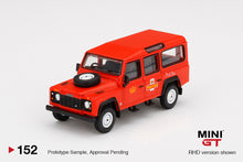 Load image into Gallery viewer, (Pre Order) MiniGT 1/64 Land Rover Defender 110 UK Royal Mail Post Bus Limited Edition
