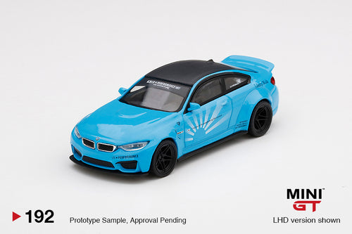 (Pre Order) MiniGT 1:64 LB★WORKS BMW M4 Baby Blue Limited Edition