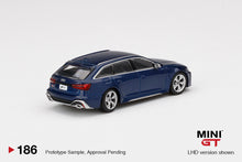 Load image into Gallery viewer, (Pre Order) MiniGT 1:64 Audi RS6 Avant Blue Limited Edition