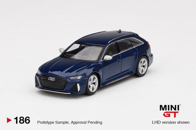 (Pre Order) MiniGT 1:64 Audi RS6 Avant Blue Limited Edition