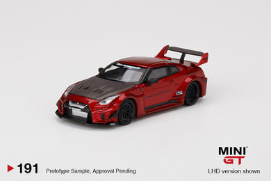(Pre order) Mini GT 1:64 LB-Silhouette WORKS GT NISSAN 35GT-RR Ver.1 Lava Red
