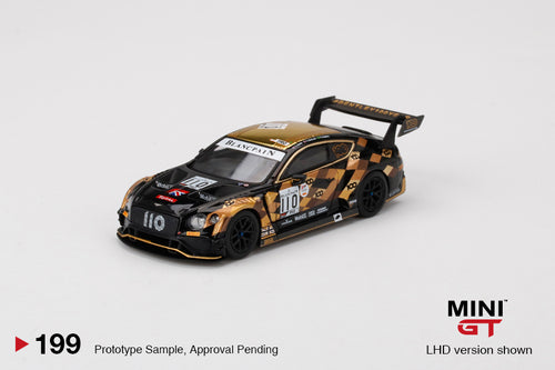 (Pre order) Mini GT 1/64 Bentley Continental GT3 #110 2019 Total 24 Hours of Spa M-Sport Team Bentley Mijo Exclusive