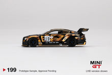 Load image into Gallery viewer, (Pre order) Mini GT 1/64 Bentley Continental GT3 #110 2019 Total 24 Hours of Spa M-Sport Team Bentley Mijo Exclusive
