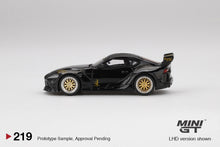 Load image into Gallery viewer, (Pre Order) Mini GT 1:64 Mijo Exclusive USA Pandem Toyota GR Supra V1.0 Black Limited Edition