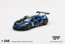 Load image into Gallery viewer, (Pre Order) Mini GT 1:64 MiJo Exclusives - Acura NSX GT3 EVO #57 2020 IMSA 24Hr Daytona Blue Limited Edition