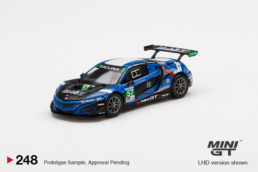 (Pre Order) Mini GT 1:64 MiJo Exclusives - Acura NSX GT3 EVO #57 2020 IMSA 24Hr Daytona Blue Limited Edition