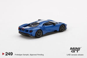 (Pre Order) 1/64 MiniGT Ford GT Liquid Blue With White Racing Stripes Limited Edition