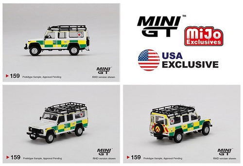(Pre Order) MiniGT 1/64 Land Rover Defender 110 British Red Cross Search & Rescue Mijo Exclusive