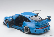 Load image into Gallery viewer, AUTOart 78152 Porsche RWB 993 1:18 Blue with Gun Grey Wheels