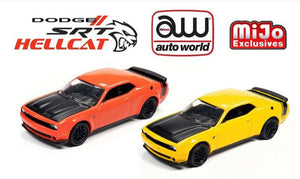 ( Preorder) Auto World 1:64 Mijo Exclusive 2019 Dodge Challenger SRT Hellcat Orange Limited 3,000 pcs