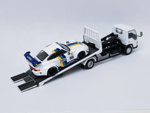 Load image into Gallery viewer, Bundle 1:64 Tarmac Porsche RWB Greddy 993 with YES Tow Truck