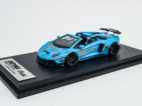 Impossible Perfect 1:64 LB Works Lamborghini Aventador Roadster BABY BLUE 1 of 300 Pcs