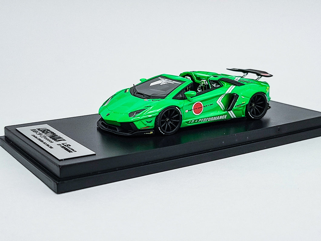 Impossible Perfect 1:64 LB Works Lamborghini Aventador Roadster GREEN 1 of 300 Pcs