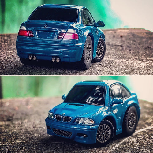 TinyQ BMW M3 (E46) Laguna Seca Blue with Display Case