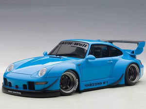 AUTOart 78152 Porsche RWB 993 1:18 Blue with Gun Grey Wheels
