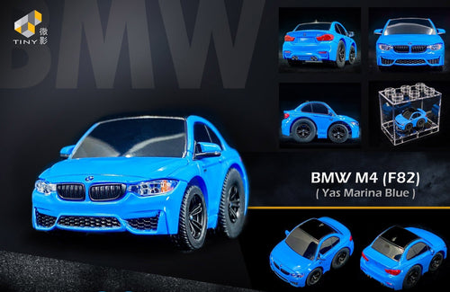 TinyQ BMW M4 (F82) Yas Marina Blue with Display Case