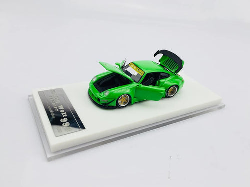HPI 1:64 Porsche 911 993 RWB Green Resin Full openings