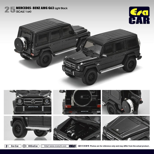 Era Car 1/64 Mercedes Benz G63 AMG G Wagon Black