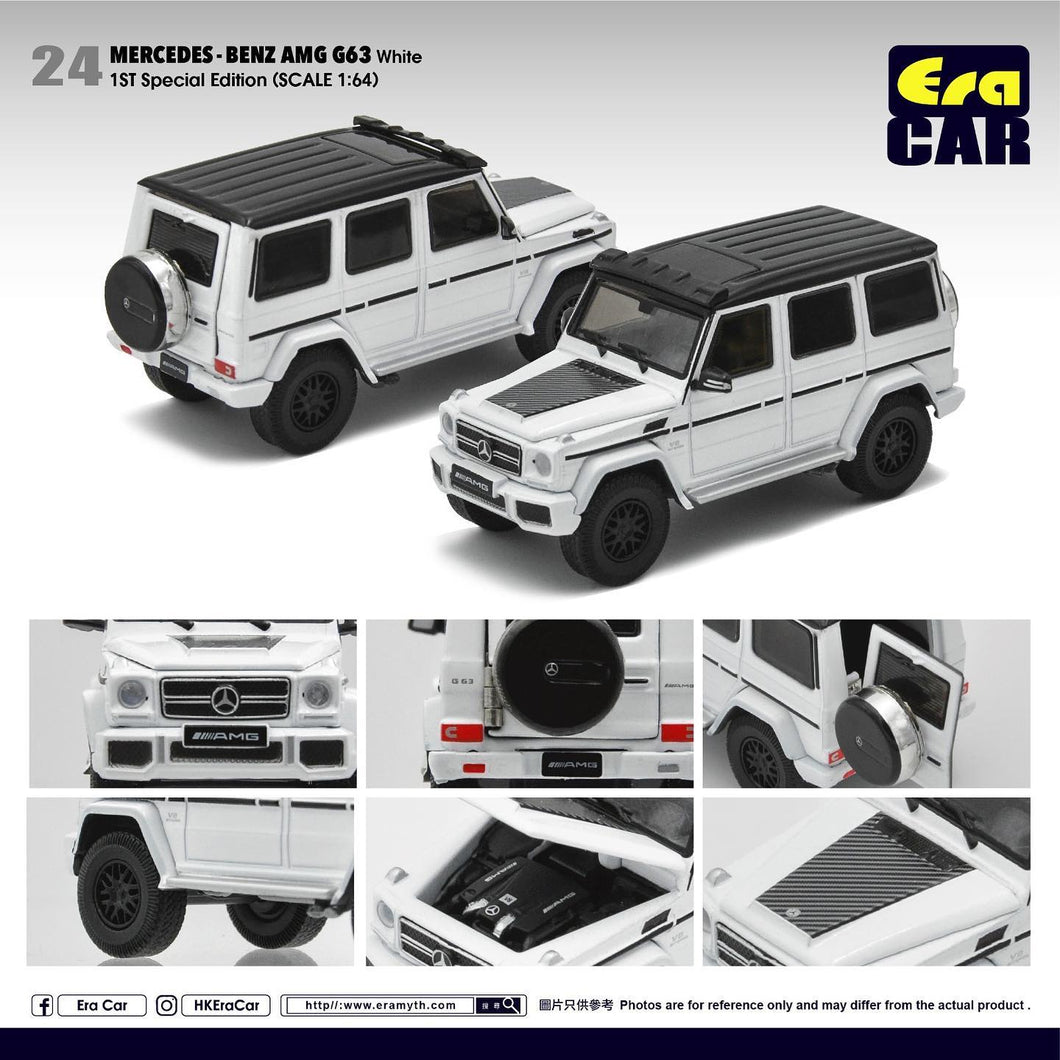 Era Car 1/64 Mercedes Benz G63 AMG G Wagon White
