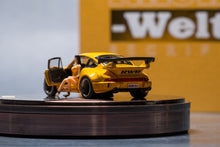 Load image into Gallery viewer, PGM 1:64 Porsche 911 964 RWB Yellow diecast with Figure