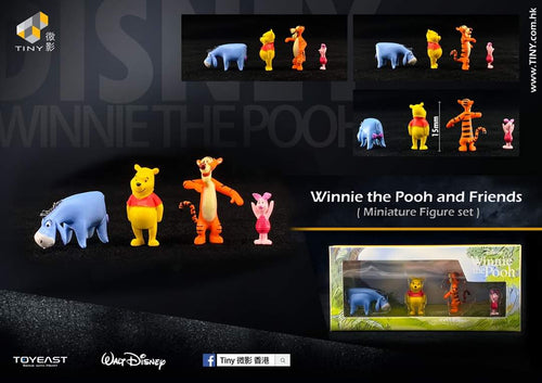 Tiny 1/64 Disney Winnie the Pooh and friends figures Limited Edition