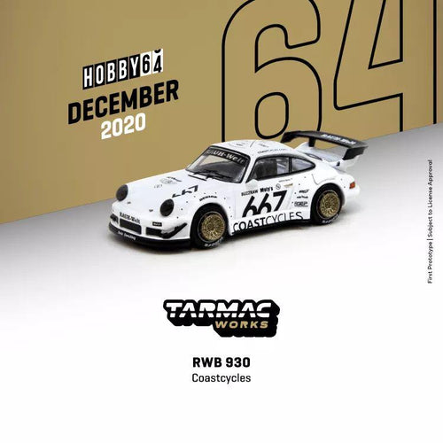 (Pre order) Tarmac Works 1:64 Porsche RWB 930 Coastcycles