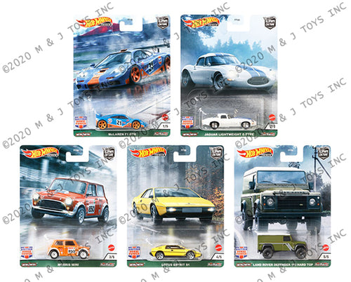 (Pre Order) 1 set of Hot Wheels 1:64 Car Culture British Horse Power A Assortment 2021