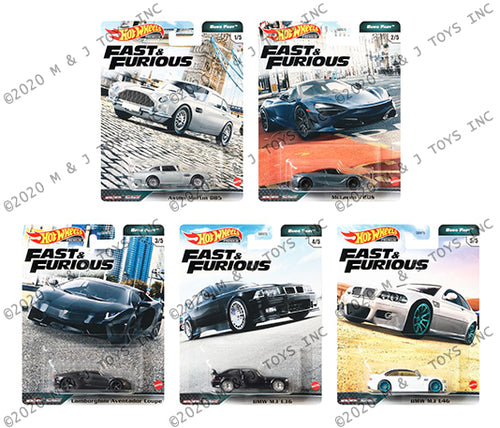 (Pre Order) 1 set of Hot Wheels 1:64 Car Culture Fast and Furious 2020 Euro Fast K case