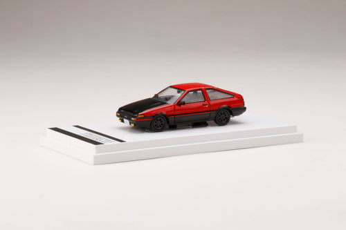 (Pre Order) Hobby JAPAN 1/64 Toyota SPRINTER TRUENO GT APEX (AE86) Customized Version / Carbon Bonnet High Flash Two Tone