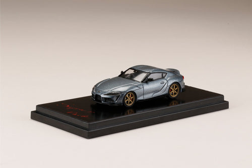 Hobby JAPAN 1/64 Toyota GR Supra (A90) RZ Customized Version. Matte Storm Gray Metallic