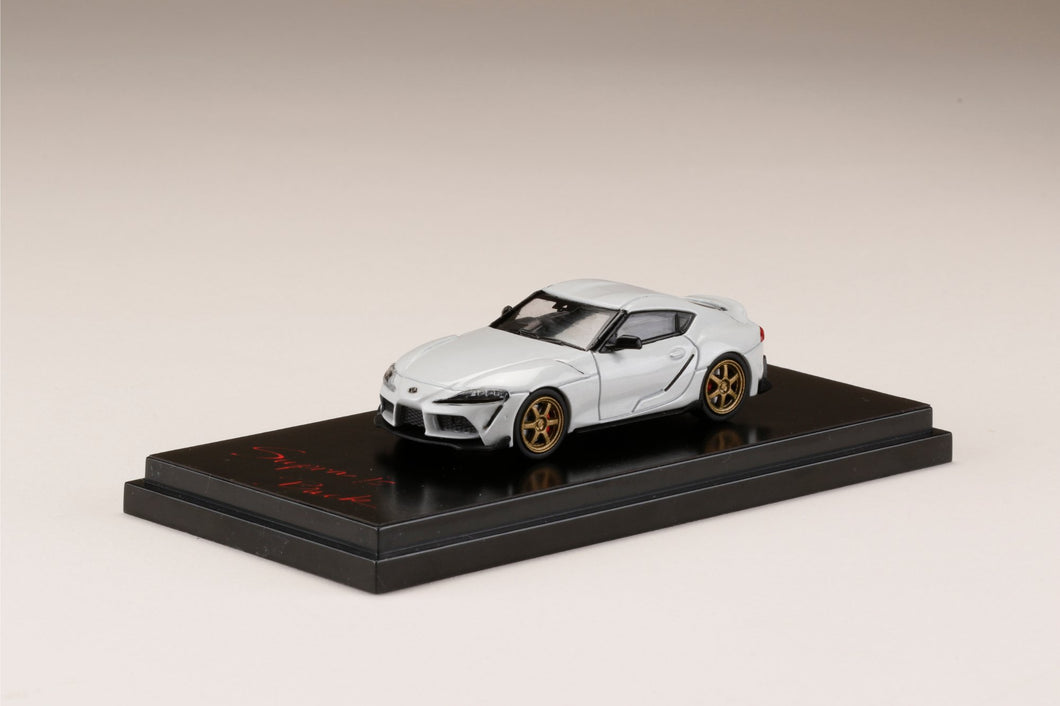Hobby JAPAN 1/64 Toyota GR Supra (A90) RZ Customized Version. White Metallic