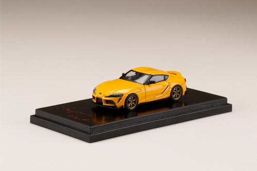 Hobby JAPAN 1/64 Toyota GR Supra (A90) RZ Customized Version. Lightning Yellow