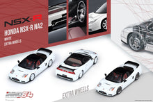 Load image into Gallery viewer, (Pre Order) INNO 1/64 HONDA NSX-R NA2 Championship White With Extra Wheels