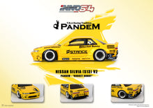 Load image into Gallery viewer, (Pre Order) INNO 1/64 NISSAN SILVIA S13 ROCKET BUNNY V2 Yellow