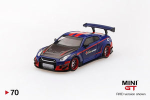 MiniGT x InterSPORT 1:64 Nissan GTR LB★WORKS Type 2 Rear Wing Ver 3 - InterSPORT 40th Year Anniversary Edition