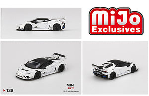 (Pre Order) Mini GT 1:64 MiJo Exclusives - Lamborghini Huracan GT LB Works (White) Limited Edition 1 of 2,400