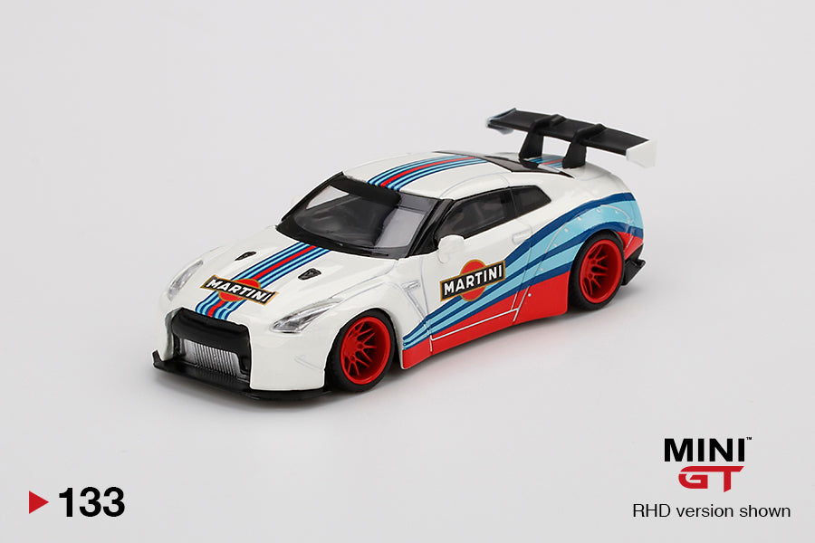 (Pre Order) MiniGT 1/64 LB WORKS Nissan GT-R R35 Type 1 Rear Wing Version 1, Martini Racing
