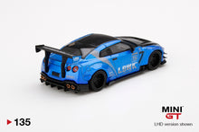 Load image into Gallery viewer, (Pre Order) MiniGT 1/64 LB WORKS Nissan GT-R R35 Type 2 Rear Wing Version 3, Blue, LB Work Livery 2.0  Mijo Exclusive