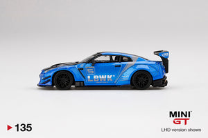 (Pre Order) MiniGT 1/64 LB WORKS Nissan GT-R R35 Type 2 Rear Wing Version 3, Blue, LB Work Livery 2.0  Mijo Exclusive