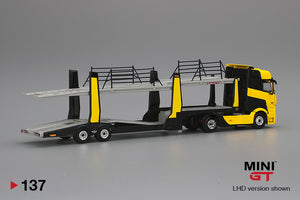 (Pre Order) MiniGT 1/64 Mercedes Benz Actros with Trailer Black/Yellow