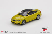 Load image into Gallery viewer, (Pre Order) MiniGT 1:64 BMW M4 (F82) Austin Yellow Metallic Limited Edition